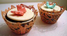 Kelebek Cupcakes...Nutellalı