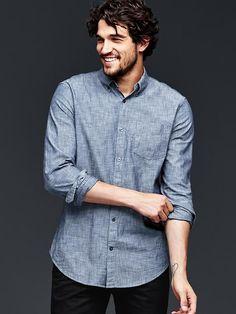 Clean chambray shirt | Gap