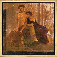 """Mural painting from Pompeii: Painting """"Two Women"""""""