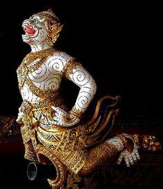 Hanuman figurehead - Royal Barges National Museum
