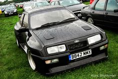1984 Ford Sierra standard 3 door saloon pumped up on steroids to look like an RS 500 Cosworth. Ford Sierra, Ford Rs, Car Ford, Ford Motorsport, Ford Capri, Ford Classic Cars, Old Fords, Ford Escort, Rally Car