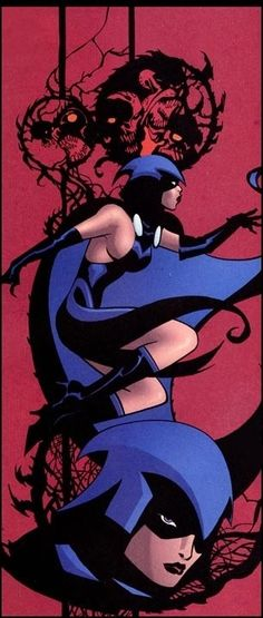 """Raven (Rachel Roth) is a fictional character, super-heroine in the DC Comics universe. Created by Marv Wolfman and George Pérez, she first appeared in a special insert in DC Comics Presents #26 in 1980. Daughter of the demon Trigon and the human Arella. Raven is an empath who can teleport and control her """"soul-self,"""" which can fight physically, as well as act as Raven's eyes and ears away from her body."""