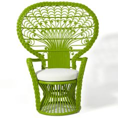 Peacock Chair at ecochic.com.  I LOVE!!!!!  This one is pretty pricey, but why couldn't I find a similar wicker chair and paint in hi-gloss lime?  LOVE. IT!