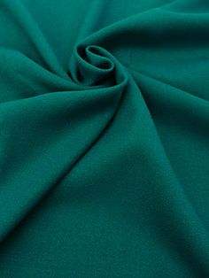 Deep Teal Worsted Wool Crepe 58W