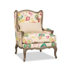 Sam Moore Kelsea Wingback Chair Finish: Java, Upholstery: 2200 Spa