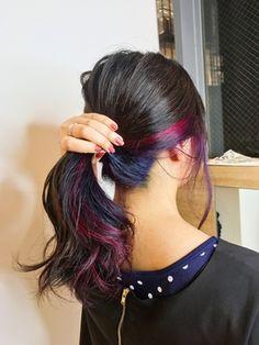 【Euphoria KAJIWARA】結んでも可愛いユニコーンカラー* Hair Color Asian, Vivid Hair Color, Hair Streaks, Cute Hairstyles, Medium Hair Styles, Diy Fashion, New Hair, Ponytail, Hair Inspiration