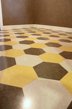 Vinyl Tile Patterns   DIY Hexagon Vinyl Tile   Kara Paslay Designs