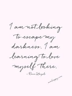 Self-compassion isn't about escaping your darkness but learning to love yourself there. Consider these self-compassion affirmations healing gifts and reflections of the stars inside of you — the light you keep, even in the midst of darkness and mystery. Learning To Love Yourself, Love Yourself Quotes, Self Love Quotes, Words Quotes, Quotes To Live By, Random Quotes, Heart Quotes, Strong Quotes, Sayings