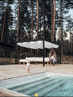 Pergola Patio, Backyard, Water Architecture, Building A Pool, Patio Makeover, Pool Decks, Cool Pools, Outdoor Areas, Pool Designs