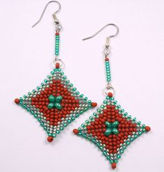 IMG_5686 | beadwoven earrings | cabinfeverclay | Flickr