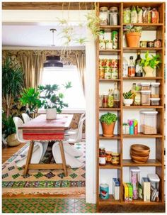 Boho Style Kitchen ideas Kitchen 35 Awesome Bohemian Home Decor - Living Room, Bedroom, Kitchen & Wall Decor Open Kitchen And Living Room, Boho Kitchen, Living Room Modern, Living Room Decor, Hippie Kitchen, Kitchen Decor, Kitchen Walls, Narrow Kitchen, Kitchen Wood