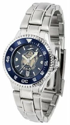 Georgetown University Hoyas NCAA Womens Steel Anochrome Watch by SunTime. $86.95. Showcase the hottest design in watches today! The functional rotating bezel is color-coordinated to compliment your favorite team logo. The Competitor Steel utilizes an attractive and secure stainless steel band.The AnoChrome dial option increases the visual impact of any watch with a stunning radial reflection similar to that of the underside of a CD. Perceived value is increased with the AnoChrome...