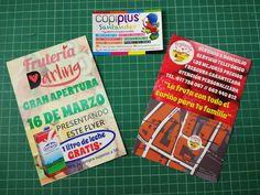 Mañana, apertura de Frutería Darling en Torrelavega, y Regalo. #Copiplus #queremosImpresionArte #Flyers #publicidad