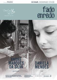 """""""Duetos da Sé"""", #restaurante #café #bar, #Alfama, #Lisboa, #Lisbon #Portugal - DOMINGO 4 DE MARÇO 2018 – 21H30 - #CONCERTO """"IN #FADO"""" - """"FADO ENREDO"""" - Daniela Mendes (voz) & André Marques da Silva (guitarra) - """"Fado Enredo"""" narra a história das influências que o #Fado chamou para si e a forma como foi contaminando os vários personagens..."""