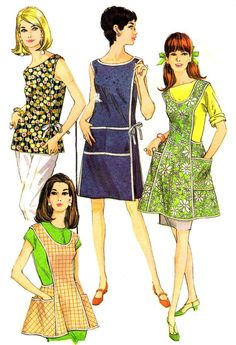 Wrap Around Dress Pattern Top Womens Apron 1960s by patternshop, $13.99