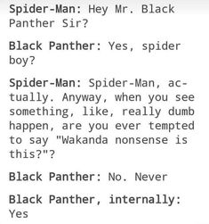 When T'Challa met Spidey