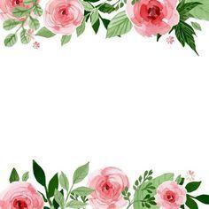 Resultado de imagen para flores en acuarelas marco o bordes