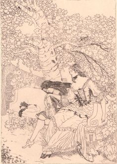 Karl Walser - Etching - Galante Szene - Ninon De L'Englo  #Realism #etching…