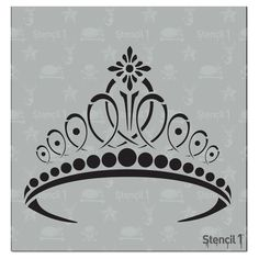 This easy-to-use Tiara Small Stencil from is perfect for walls, home decor, clothing and more. Each stencil is cut high quality in order to provide a long lasting design. The possibilities of what you can create with a stencil are endless. Tiara Drawing, Crown Drawing, Coroa Tattoo, Princess Crown Tattoos, Crown Tattoo Design, Graffiti, Shape Crafts, All Craft, Stencil Designs