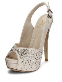 1b595d12ba79 Lipsy Phoebe Sparkle Peep Toe Shoes