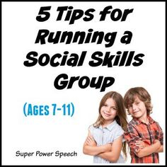 Super Power Speech: 5 Tips for Running a Social Skills Group. Pinned by SOS Inc. Resources. Follow all our boards at pinterest.com/sostherapy/ for therapy resources.
