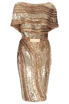 Shawl Sleeve Dress