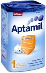 APTAMIL 1, 800G, Milupa Aptamil 1 – 800g(0-6 luni)- Lapte pentru sugari conceput pentru a asigura cresterea sugarului si a sustine un sistem imunitar puternic. Aptamil este formula de lapte completa care contine toti nutrientii de care sugarul are nevoie pentru o crestere si dezvoltare sanatoasa.