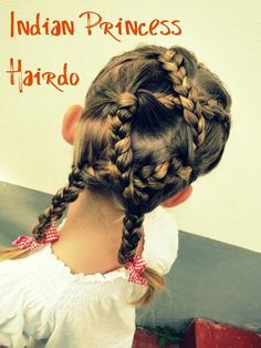 hair style for a little girl: indian princess hairdo - crafts ideas - crafts for kids