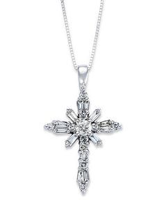 10K White Gold /& Yellow Gold Filigree Crucifix Pendant Solid 14 mm 25 mm Themed Pendants /& Charms Jewelry