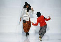 Ms Dira Abu Zahar and Ms Sharifah Amani both  model Pelikat Pants for B.O.B by Afdlin Shauki. For Pelikat Pants go to www.kedaibob.com. Styled by chrisoro. Shoes by Shoeblitz.com.my. Islamic Fashion Festival @ KUala Lumpur Fashion Week 2014 Photo credit: carrotenglishl.com #IFF #KLFW2014 #Pavilion #KLFashionWeek2014 #islamicfashion #pelikat