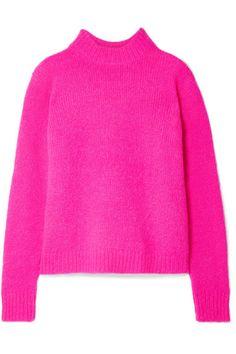 Neon-fuchsia alpaca-blend Slips on alpaca, wool, polyamide Dry clean Pink Sweater Outfit, Hot Pink Sweater, Sweater Fashion, Summer Fashion Trends, Summer Trends, Spring Summer Fashion, Girl Fashion, Fashion Looks, Wool Thread