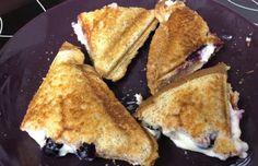 Cream cheese & blueberry breakfast sandwich.