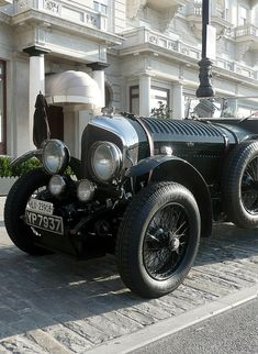1930's Bentley. Patrick Macnee as John Steed drove one of these on the 1960's television series, The Avengers