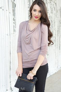Rosalyn Rouched Top || I like that it has a lot of drape and flow, but it's not fussy. Fussiness is not good on me.