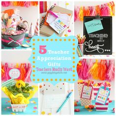 5 Teacher Gifts Teachers Really Want Fun way to show your love for your teacher