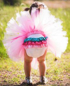 RuffleButts.com - Fancy Necklace Bodysuit & Pink Tutu Set