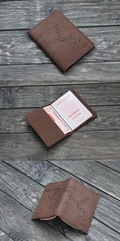 Chocolate leather travel wallet. 100% handmade. Hand stitching.  - Passport cover made from hight quality Italian leather. Crazy horse leather. - 2 pocket for passport, other documents and money. 4 pocket for cards. - Size: 15 x 10 cm (5.9' x 3.9') when closed - Free shipping - Distressed Leather, gets better and better with age. - Minimalist design is a perfect statement of elegant simplicity. - Perfect gift - Changing any details, leather and thread colors to your wishes Leather Passport Wallet, Slim Wallet, Leather Wallet, Leather Notebook, Leather Journal, Passport Cover, Crazy Horse, Distressed Leather, Leather Cover