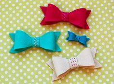 Free pattern: Felt bows for hair accessories or embellishments