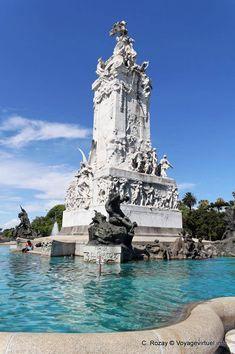 El Monumento a la Carta Magna y las Cuatro Regiones Argentinas, Avenida Sarmiento, Monumento a los Espanoles, Buenos Aires - Argentina