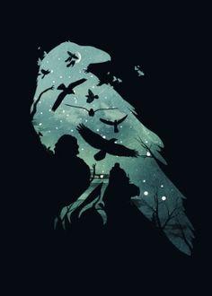5 x Noir Découpe Laser plat Corbeau Crow Bird idéal pour artisanat