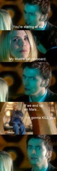 """My mum's still on board""...that look..."