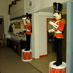 Superb For We Added Two Tin Soldiers On Drums. They Stand Nearly Eight Feet Tall!