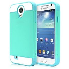 Galaxy S4 Case, MagicMobile® Hybrid Ultra Slim Thin Impact Hard Durable TPU Cute Protective Cover Armor Shell [ Turquoise - Light Blue ] Free Screen Protector / Film and Pen Stylus
