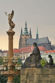 View from Rudolfinum to Prague castle. Budapest, Places To Travel, Places To Visit, Magic Places, Prague Travel, Prague Czech Republic, Prague Castle, Heart Of Europe, Europe Photos