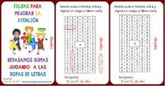 """Sopas de números: repasamos operaciones sencillas """"La Suma"""""""