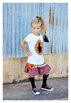 Adorable Halloween Silhouette Tee by Cici & Ryann...ohhh, i can think of a cute lil dark haired beauty that would look so cute in this.