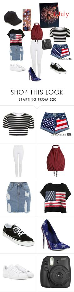 """""""4 July outfits"""" by estefeni-argueta ❤ liked on Polyvore featuring beauty, Topshop, Chicnova Fashion, Vans, adidas and rag & bone"""