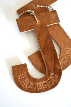 Are you looking for a stylish way to label your luggage, backpack or diaper bag? These leather letter shaped versions are the perfect