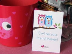 Printable Owl Valentines by BitsyCreations on Etsy, $4.50