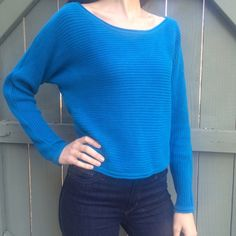 Forever 21 cobalt knit sweater! Forever 21 blue cobalt sweater! Size medium but fit like a small. Cozy and only worn a few times. Great condition. Bundle and save! Forever 21 Sweaters Crew & Scoop Necks